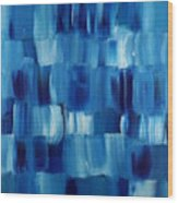 Blue Thing Wood Print by KR Moehr