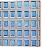Blue Windows Wood Print