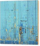 Blue Yonder Wood Print