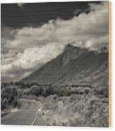 Bnw Volcan De Fuego - Sacatepequez Wood Print