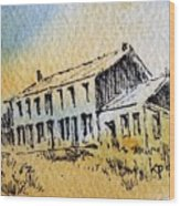 Boardinghouse Cable Ghost Town Montana Wood Print