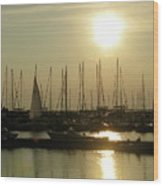 Boat Docks  Wood Print