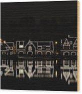Boathouse Row - Philadelphia Wood Print by Brendan Reals