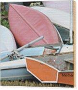 Boats Boats And More Boats Wood Print