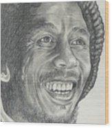 Bob Marley Wood Print by Stephen Sookoo