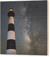 Bodie Island Lighthouse Milky Way Wood Print
