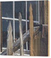 Bodie Picket Fence And Window Wood Print