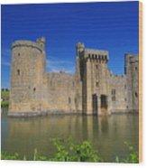 Bodium Castle Sussex Wood Print