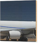 Boeing 747-8 N50217 At Phoenix-mesa Gateway Airport Wood Print