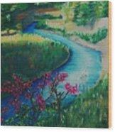 Bone Creek Wood Print