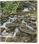 Boone Fork Falls Wood Print