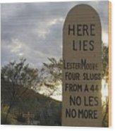 Boothill Graveyard Tombstone Arizona 2004 Wood Print