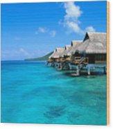 Bora Bora Lagoon Resort Wood Print
