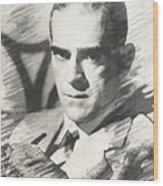 Boris Karloff, Vintage Actor Wood Print