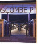 Boscombe Pier At Night Wood Print