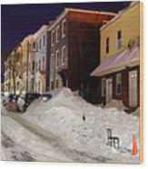Boston During The Historic 2015 Winter Wood Print