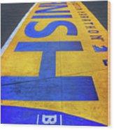 Boston Marathon Finish Line   Wood Print