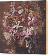 Bouquet Of Orchids Wood Print