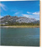 Bow Valley Campground Wood Print by Adnan Bhatti