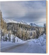Bow Valley Parkway Winter Conditions Wood Print