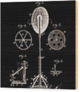 Boxing Punch Bag Patent 1885 Wood Print