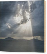 Breaking The Clouds Wood Print