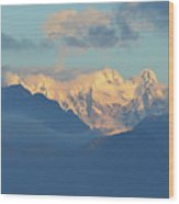 Breathtaking Landscape Of The Dolomites Mountains In Italy  Wood Print