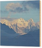 Breathtaking Scenic View Of The Alps In Italy  Wood Print