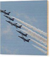 Breitling Jet Team Wood Print