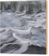 Brethamerkursandur Iceberg Beach Iceland 2588 Wood Print