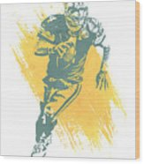 Brett Favre Green Bay Packers Water Color Art 1 Wood Print