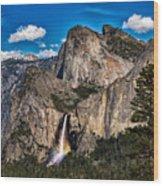Bridalveil Falls Rainbow #2 Wood Print