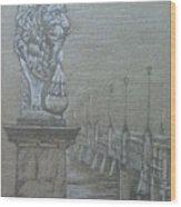 Bridge Of Lions Wood Print