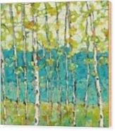 Bright Birches Wood Print