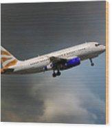 British Airways Airbus A319-131 Wood Print