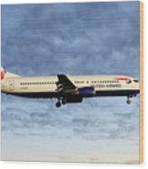 British Airways Boeing 737-436 Wood Print