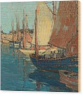 Brittany Boats Wood Print