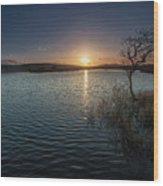 Broad Pool North Gower Wood Print