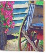 Broken Wagon Wood Print