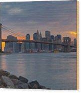 Brooklyn Sunset Wood Print