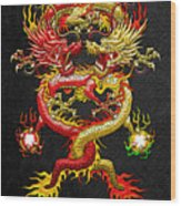 Brotherhood Of The Snake - The Red And The Yellow Dragons Wood Print