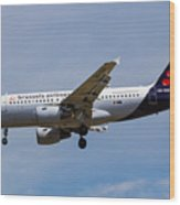 Brussels Airlines Airbus A319 Wood Print