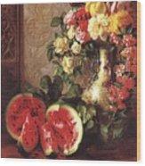 bs- George Henry Hall- Still Life George Henry Hall Wood Print
