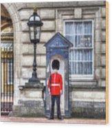 Buckingham Palace Queens Guard Art Wood Print