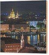 Budapest, Danube River, Hungary Wood Print