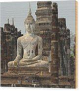 Buddha At Sukhothai Wood Print