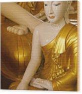 Buddhas In Burma Wood Print