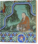 Buddhist Temple Art Wood Print