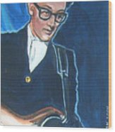 Buddy Holly Wood Print