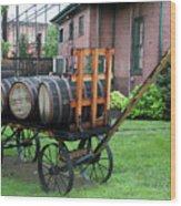 Buffalo Trace Barrel Wagon Wood Print